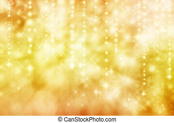 Abstract lights background - Golden yellow colored image of...