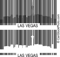 Las Vegas barcode - City of Las Vegas high-rise buildings...