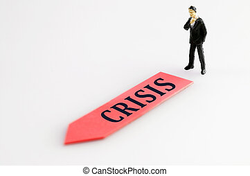 Crisis direction and toy business man