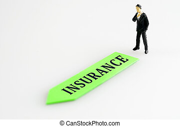 Insurance direction and toy business man