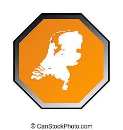 Netherlands road sign