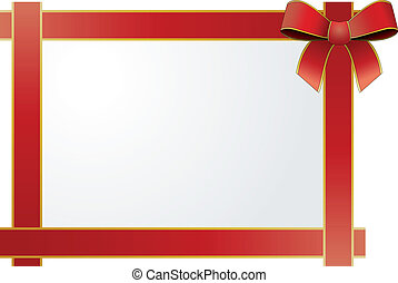 frame red ribbon - illustration of frame with silk tied red...