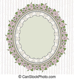 Oval frame in the Provence style - Sentimental oval frame in...