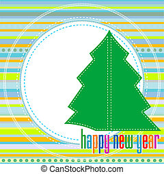 Christmas tree - Christmas and New Year`s background