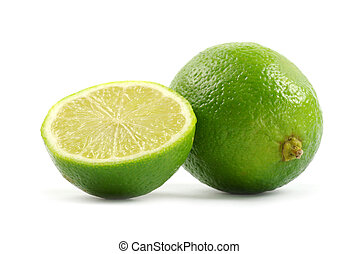 limes - Fresh limes isolated on white