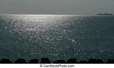 Sparkling water surface and fishing...