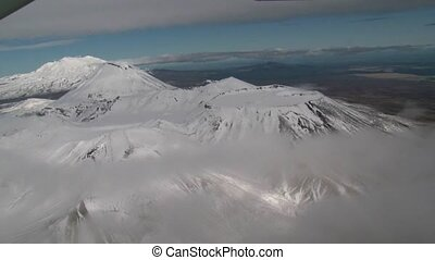 Tongariro National park 2 - aerial flight over tongariro...