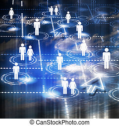 symbol of social network - human figures as a symbol of...