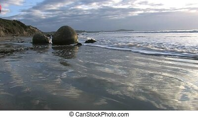 Moeraki Boulders 2 - The Moeraki Boulders are a group of...