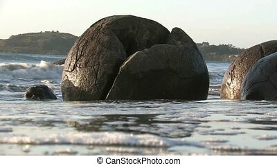 Moeraki Boulders 4 - The Moeraki Boulders are a group of...