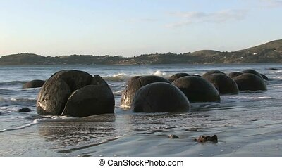 Moeraki Boulders 5 - The Moeraki Boulders are a group of...