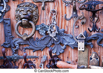 Collection of door knockers - Collection of handmade metal...