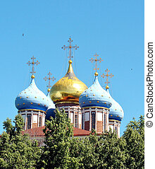 Golden domes of the Ryazan Kremlin