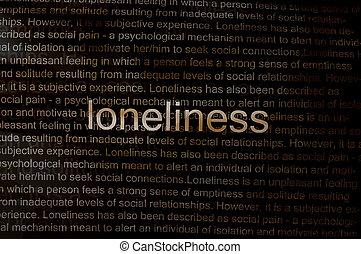 getippt, Einsamkeit, Papier,  Text