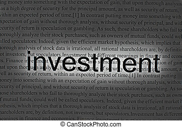 Text investment on paper