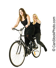 Women on a bicycle