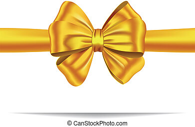 Golden gift ribbon with bow