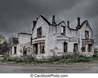 Abandoned house - Abandoned and ruined house in Russia