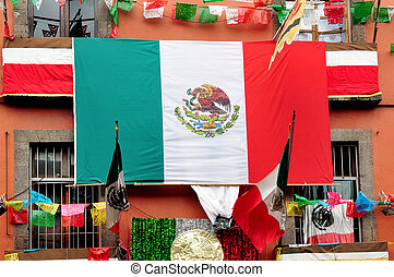 Mexico City Flags - The flag of the United Mexican States...