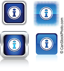 Info  icons. -   Info  square buttons. Vector illustration.