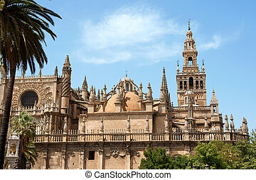Seville Cathedral - Detail of the gothic and baroque...