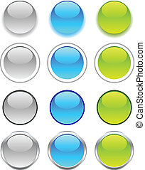 Internet buttons. - Internet shiny buttons. Vector...