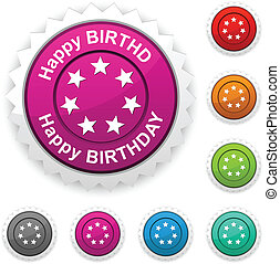 Happy birthday award. - .Happy birthday award button....