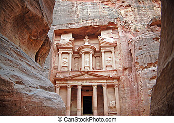 Petra Jordan - The Siq-main entrance to the ancient city of...