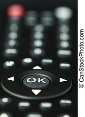 Television remote control buttons