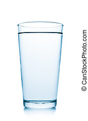 glass with water - glass filled with water on white...