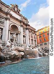 Trevi Fountain in Rome, Italy - Fontana di Trevi - The Trevi...