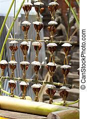 Pura Ulun Danu Batur - festive decoration of hindu temple...