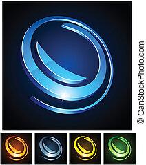 3d round emblems.