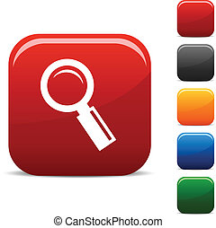 Searching icons. - Searching icon set. Vector illustration....