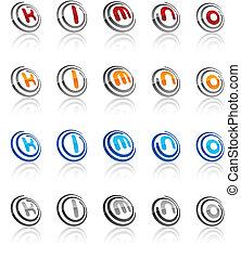 Set of modern emblems. - Vector illustration of letter...