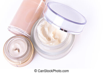 creams and makeup - set of nourishing creams and makeup