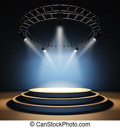 Empty stage. - A 3d illustration of an empty stage.
