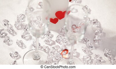 Valentines day theme HD - small hearts fall on the...