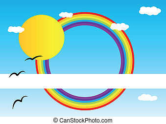 Brochure cover with rainbow