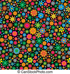 Sesmless Flower Background - vector illustration of sesmless...