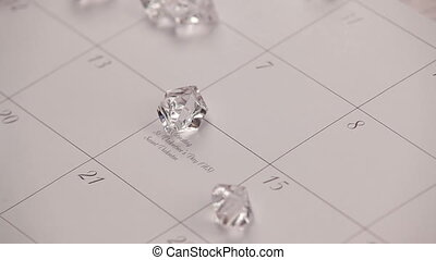 Diamonds. HD - Diamonds falling on the 14th day of February...