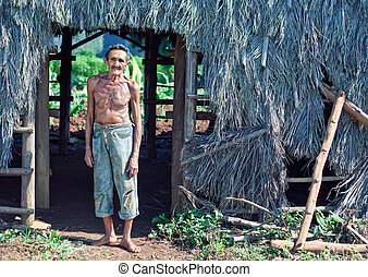 cuban farmer - Old sympathetic cuban farmer , valley of...