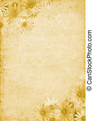 Flowers on Old Paper