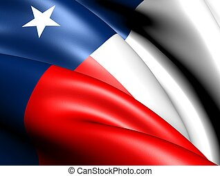 Flag of Texas, USA. Close up.