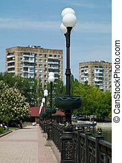 The urban landscape. Donetsk - Donetsk. Screven near the...
