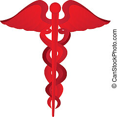 medical symbol - red medical symbol isolated over white...