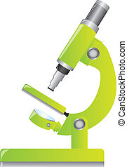 green microscope isolated over white background vector