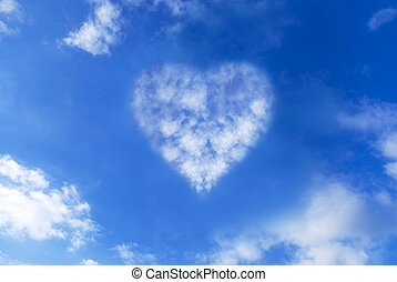 Cloud heart in the sky - Cloud heart in a blue sky...