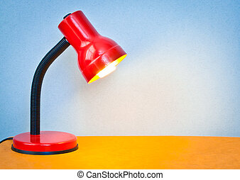 Desk lamp - Lovely colorful image of a desk lamp shining...