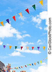 Bunting - Summer festival bunting in an english town